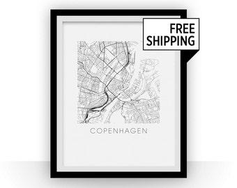 Copenhagen Map Print