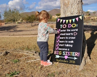 Big Sister Announcement - Pregnancy Announcement - Big Sister Announcement Sign - Pregnancy Reveal - Big Brother Announcement - Custom