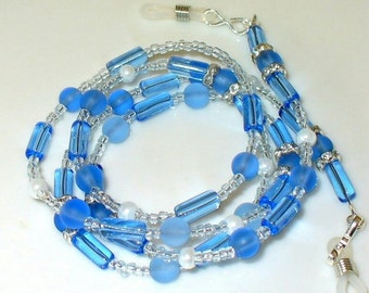 1 necklace in ice blue 75 cm (39)