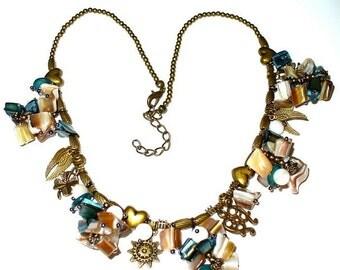 1 bronze Pearl Necklace 41 cm