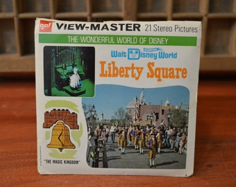 View-Master Liberty Square at Walt Disney World Florida - Complete Set of 3 Reels - Packet A950