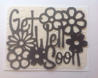 Simply Silhouettes-Make It Yourself-Greeting Card Toppers-Get Well Soon- Quick, Easy, Cheap