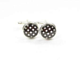 Cufflinks black white