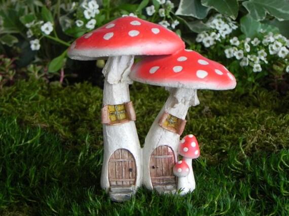 Gnome Garden: Miniature Fairy Garden Mushroom House Fairy Garden Supplies