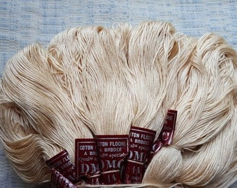 Vintage ECRU DMC France Floche a Broder Embroidery Thread