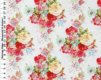 Ballad Bouquet Spring Cotton Home Dec Fabric - One Yard - 44 inch Home Decor Fabric
