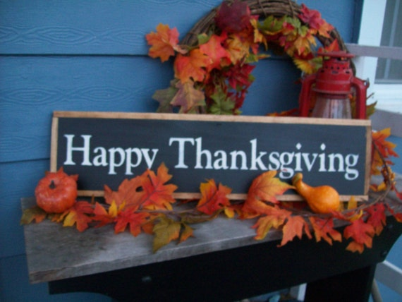 "framed handpainted ""Happy Thanksgiving"" sign (great hostess gift)"