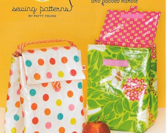 Lunch Bag, Sewing Pattern, by Modkid, New uncut sewing pattern, This is a Micro Mini Pattern,