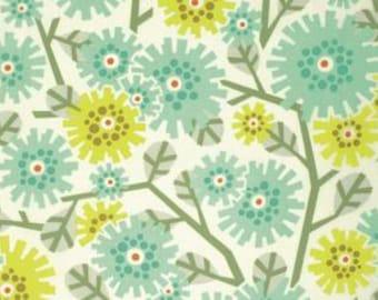 Heather Bailey Clementine 'Dandy Bloom' in Aqua Cotton Fabric