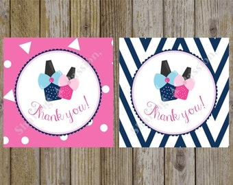 Spa Party Favor Tags - Birthday Party Favor Tags - Thank You Tags - Spa Thank You Tags - Spa Birthday Party - DIY Thank You Tags