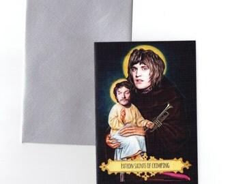 Saint Vince Noir and Saint Howard Moon // The Mighty Boosh // Blank Card