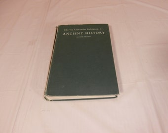 Ancient History 2nd Edition Charles Alexander Robinson,Jr. 1967