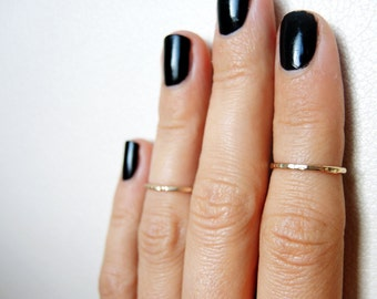 Set of 2 gold filled above knuckle rings/ Stacking rings