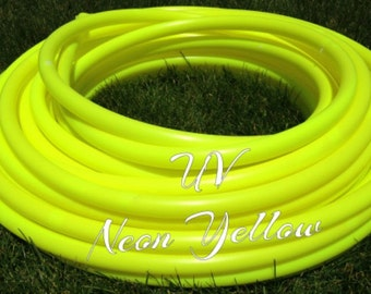 "UV Neon Yellow Roll of 3/4"" or 5/8"" Colored PolyPro hula hoop tubing - Make your own hoops!  50 ft or 100 ft"
