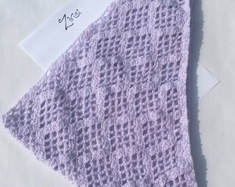 Spring Lilac Triangle Scarf