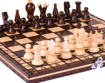 Chess set wood, Wooden chess set, Wooden chess board, Wood chess set