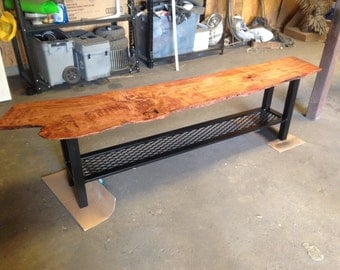 Reclaimed Iron and Wood Coffee Table