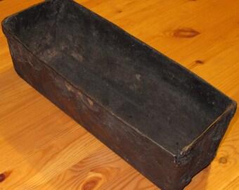 Vintage handmade bread baking tin