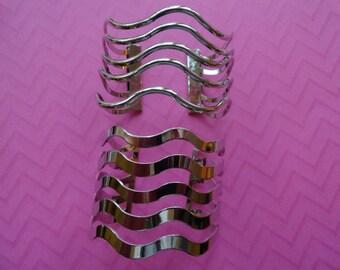 Wave cage statement  cuff bracelets