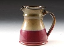 Handmade Pottery Small Pitcher Red Brown Stoneware by Mark  Hudak
