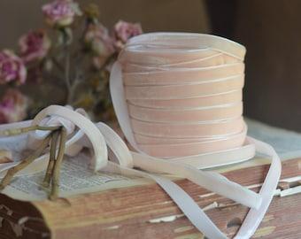 light blush pink velvet ribbon