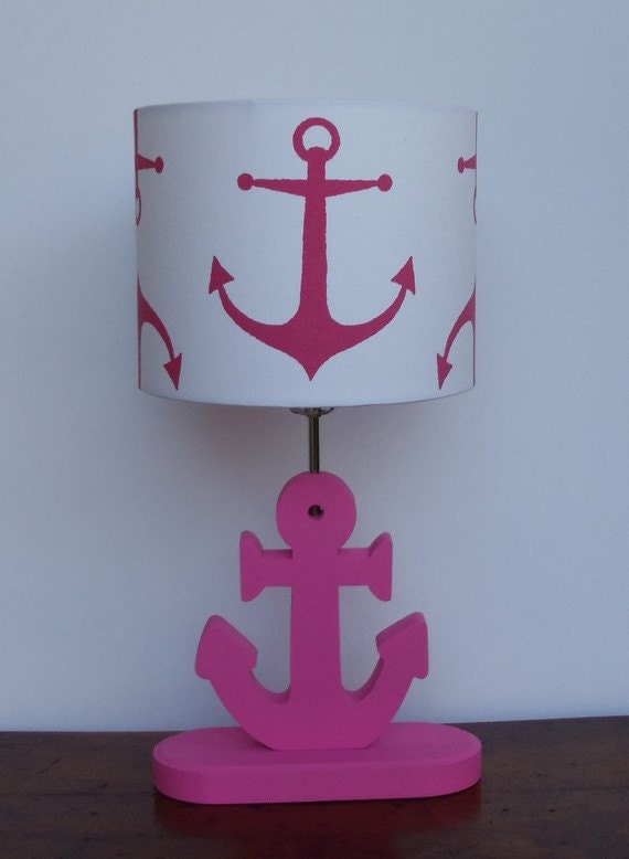 Anchor Lamp Base Handmade Wooden Nautical Desk By Perrelledesigns