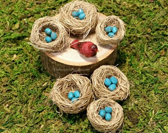 Fairy Garden Miniature Birds Nest