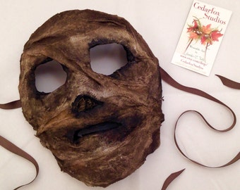 Mummy Mask costume Egyptian masquerade Velvet lined All Wrapped Up