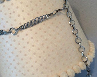 Vintage chain belt, women's vintage belt, vintage women's accessories