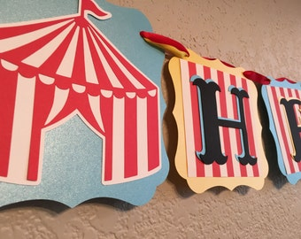 Circus Banner, Circus Party Banner, Carnival Birthday Banner, Circus Birthday Banner