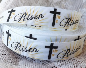 Easter ribbon 7/8 religious ribbon Christian ribbon Bible grosgrain ribbon Jesus ribbon
