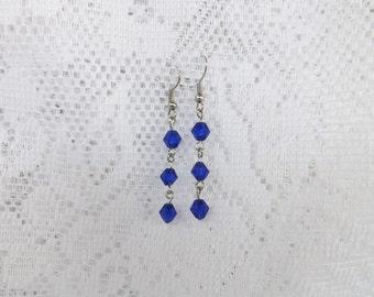 Blue earrings blue jewelry blue dangle earrings
