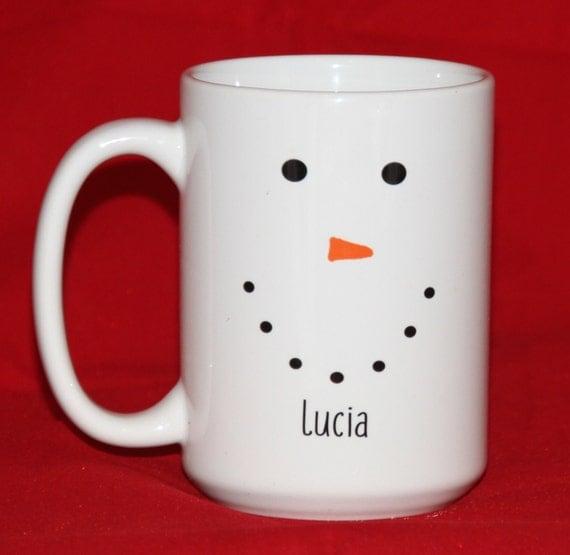 Personalized Snowman Mug - Christmas Gift Mug - Christmas Hostess Gift ...