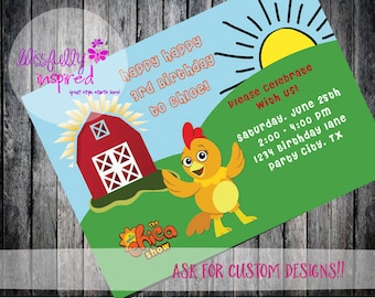 The Chica Show / The Sunny Side Up SHow {inspired} Party Invite - Custom Printable Birthday Invitation