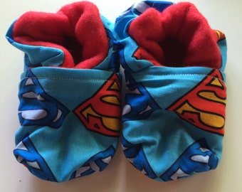 Superman Logo Baby Booties One Size Fits Most 0-18 months