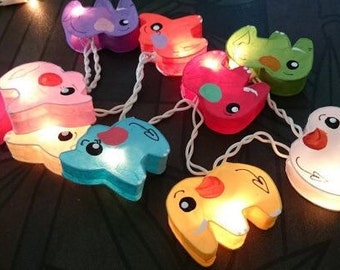 handmade Cutie elephant mulberry paper Lanterns for wedding party decoration (20 bulbs)