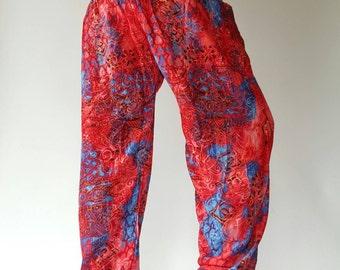 SM0033 Thai Genie Pants Comfy Trouser, Gypsy Pants Rayon Pants,Aladdin Pants Maxi Pants Boho Pants