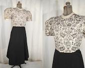 Vintage 1950s Blouse   Large 50s White Princess Sleeve Top