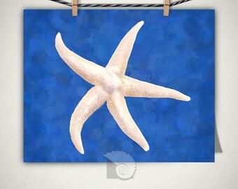 Starfish Wall Art, Coastal Art, Sea Shell Art, Art Prints, Coastal Wall Decor, beach cottage, coastal living, housewarming gift