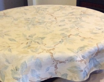 53in Pure Linen English Print Tableloth