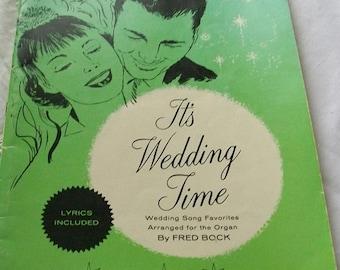 Vintage Wedding sheet music book - wedding song book - vintage wedding songs - wedding sheet music - vintage sheet music  - wedding songs