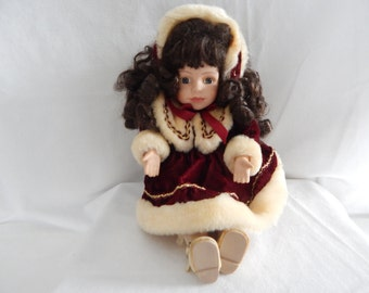 Vintage Collector's Choice Musical Porcelain Doll