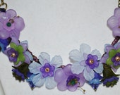 Spring Bouquet Necklace In Purple