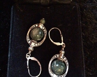 Marble earrings 2 in