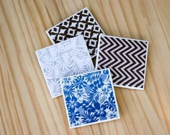 Tropics Set of 4 Ceramic Coasters