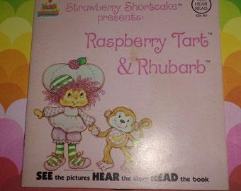 Strawberry Shortcake Vintage Book and Record Set Raspberry Tart & Rhubarb Monkey DARLING