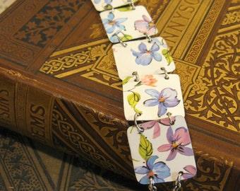 Tin Bracelet, Recycled Vintage Tin