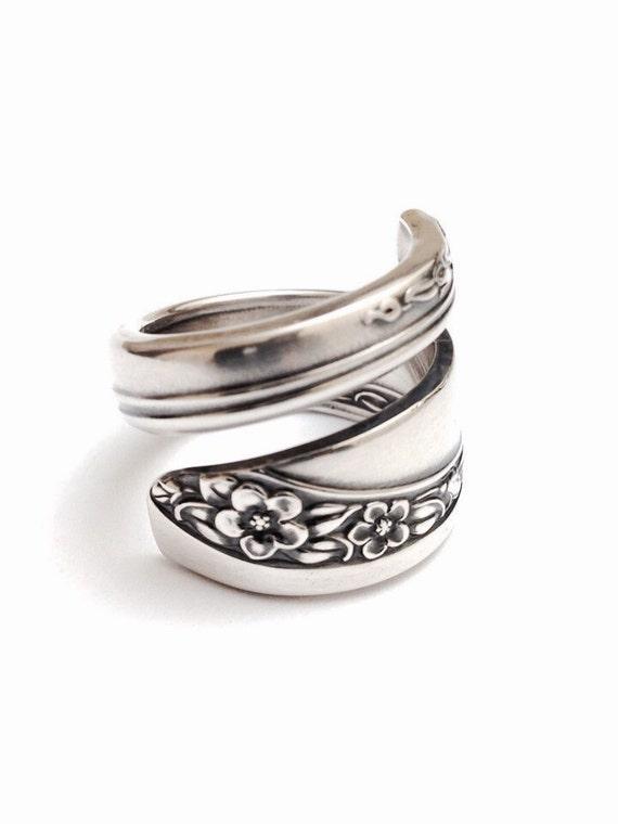 silver spoon ring circa 1953 silverware jewelry spoon