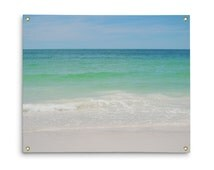 Beach Anna Maria 2 - Wall Tapestry, Coastal Ocean Pastel Colors, Blue Green Beach Surf Nautical Throw Cover. In Small, Medium and Large Size