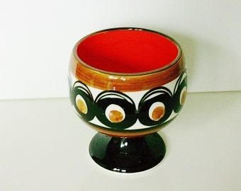 "SMF Schramberg ceramic ""SAMBESI"" footed bowl or planter, Germany"